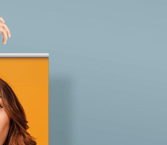 VISUAL banner hoofd vrouw